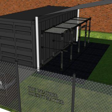S tenisovými kurty bude sousedit venkovní fitness centrum